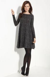 autumn cashmere Leopard Print Flared Sweater Dress