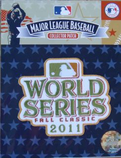 Official Collector MLB Baseball Patch Fall Classics World Series 2011