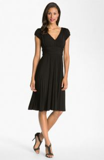 Suzi Chin for Maggy Boutique Ruched Matte Jersey Dress