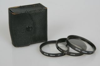 49mm HOYA Close Up MACRO Filter Set 3 Filters THREE FILTERS Case 1 2 3