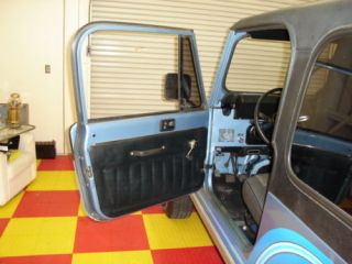 1981 1986 Jeep CJ7 CJ8 Black Interior Door Panels
