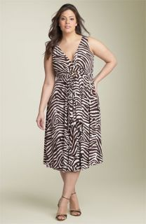 MICHAEL Michael Kors Animal Print Empire Waist Dress (Plus)