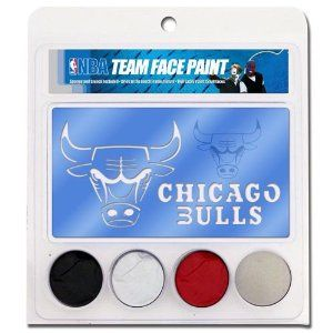 Chicago Bulls NBA Face Paint with Stencils