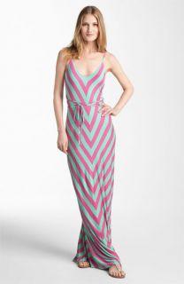 FELICITY & COCO Chevron Print Jersey Maxi Dress ( Exclusive)