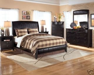 CLAIRE   5pcs CONTEMPORARY QUEEN KING SLEIGH LOW PROFILE BEDROOM SET