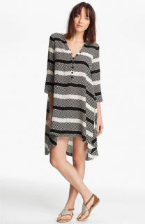 Thakoon Addition Dot & Stripe Print Tunic