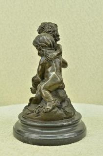 COLONIAL ERA GAME CHILDREN @ PLAY BRONZE STATUE SCULPTURE FIGURINE