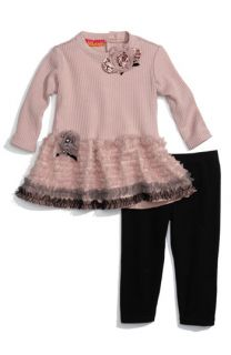 Biscotti Ruffle Tunic & Legging Set (Infant)