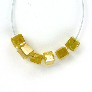 RARE Genuine Natural Yellow Color Loose Diamond Beads Drilled Faceted