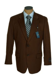 New Mens Club Room Brown Vicuna 100 Cashmere Sport Coat Jacket