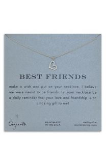 Dogeared Best Friends Open Heart Necklace