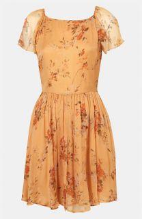 Topshop Autumn Meadow Print Dress