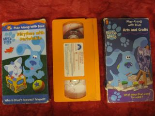 Lot 6 VHS Blues Clues & 3 Bear Big Blue House videos PHOTOS