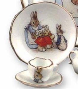 Dolls Tea Set 060 341 0 Beatrix Potter Reutter Peter Rabbit Chocolate