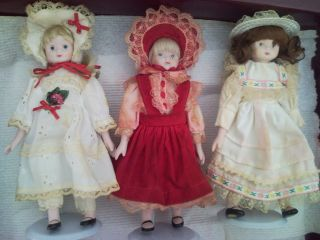Doll Collection Set of 10 Beautiful Collectible Dolls with Doll Stands
