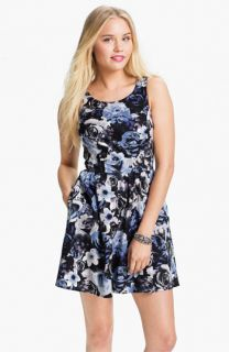 Mimi Chica Print Sleeveless Dress (Juniors)