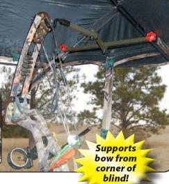 HME Hub Style Ground Blind Folding Bow Hanger Holder Deer Turkey