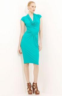 Michael Kors Cowl Neck Matte Jersey Dress
