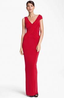 Donna Karan Collection Cap Sleeve Jersey Gown