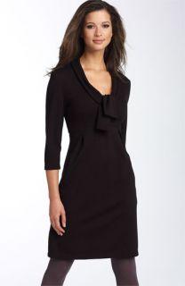 Calvin Klein Tie Front Ponte Knit Dress