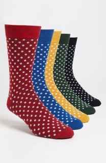 Topman Polka Dot Socks (5 Pack)