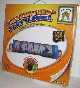 TUBE PLAY TUNNEL Kids Fort Tent Indoor Outdoor Blue Fun Pacific Toy