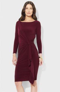 Lauren Ralph Lauren Knot Front Jersey Sheath Dress (Petite)