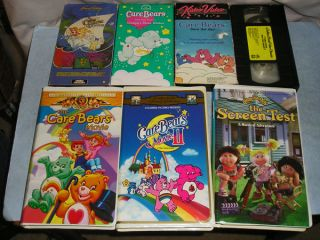 Care Bears VHS Tapes Untested Movie 3 Tales Grumpys Wishes Save The