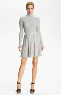 RED Valentino Cable Knit Turtleneck Dress