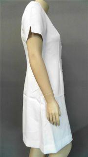 Clinique Skin Care Uniform Lab Coat Blazer Misses Sz 12 White Solid