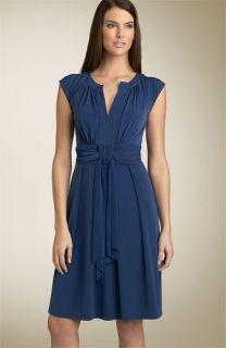 Max & Cleo Cap Sleeve Matte Jersey Dress