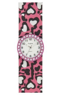 Titanium Rhinestone Heart Slap Watch (Girls)
