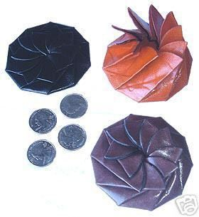Mexican Flower Leather Coin Purse Squeeze Open Wallet