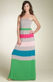 Juicy Couture Stripe Strapless Maxi Dress