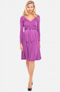 Olian Maternity Lucy Ruched Wrap Dress