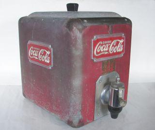 Vintage Coca Cola Syrup Coke Soda Fountain Cooler Dispenser Machine