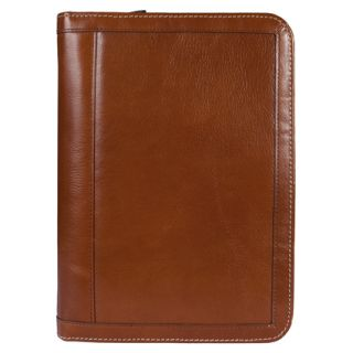FranklinCovey Classic Vintage Leather Wire bound Cover   Tan