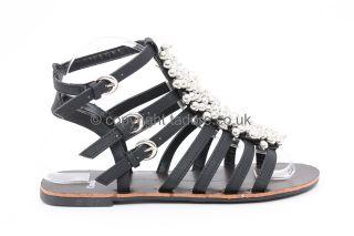 Womens Ladies Flat Hi High Top Ankle Trainers Black Pumps Shoe Size 3