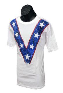 Evel Knievel Classic V T Shirt EKT04
