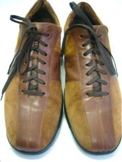 Cole Haan Tobacco Brown Suede & Leather Euro Sneakers Oxfords Nike Air