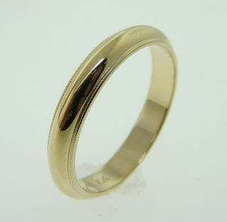 Estate 14k Gold Comfort Fit Wedding Ring Band Fine Jewelry 4 8 Grams