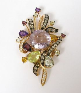 LeVian Pendant Multi Color Diamonds 14k Rose Gold $4600
