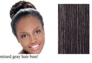 Harlem mixed gray hair bun color 280 100 modlon fibers hair piece