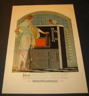 1921 American Radiator Co Advertisement Coles Phillips