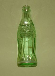 oz Coca Cola Glass Soda Pop Bottle Embossed Coke Logo Valdosta GA