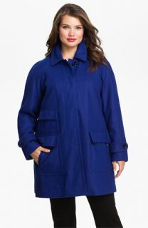 Ellen Tracy Fly Front Stadium Coat (Plus) ( Exclusive)