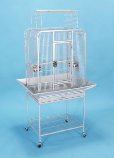 24x18x62H New Parrot Bird Cage Cages Playtop Cockatiel African Grey