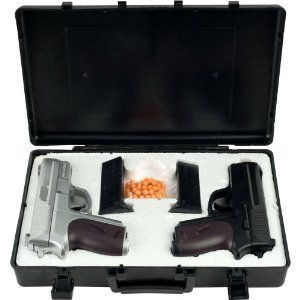 Airsoft Pistol Dueling Kit with Case 2 Pistols Gun Set Air Soft
