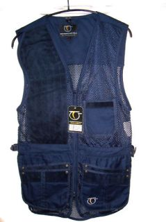 Top Gun Rio Mesh Clay Pigeon Shooting Skeet Vest Navy and Black All