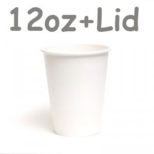 Hot Coffee Paper Cup + Lid Disposable (1000set) WHOLESALE DISTRIBUTOR